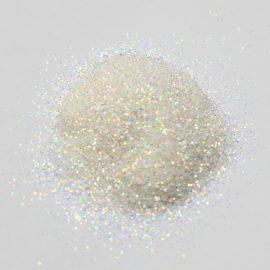 Втирка, белая с золотыми и голографическими микро блестками