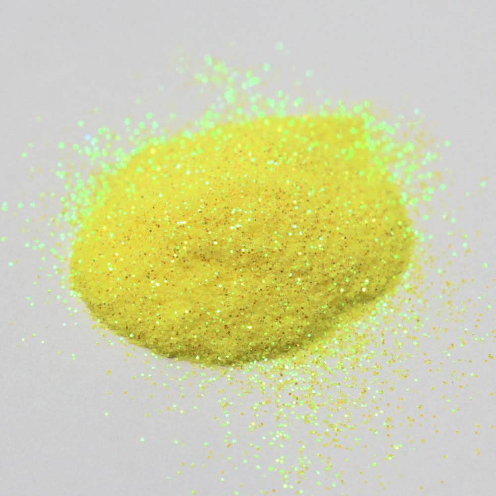 Втирка, желтая с голографическими микро блестками