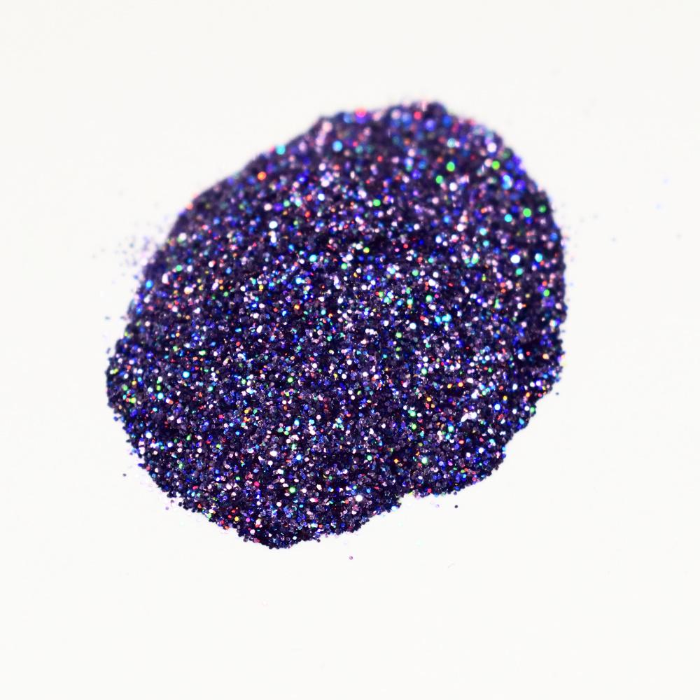Втирка, серо-фиолетовая с голографическими микро блестками