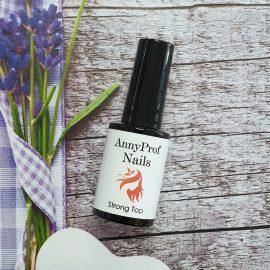 AnnyProf Nails, Прозрачный Strong Топ, без липкого слоя, 10мл